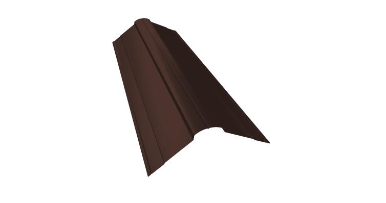 Планка конька фигурного 100x100 0,5 Velur20 RAL 8017 шоколад